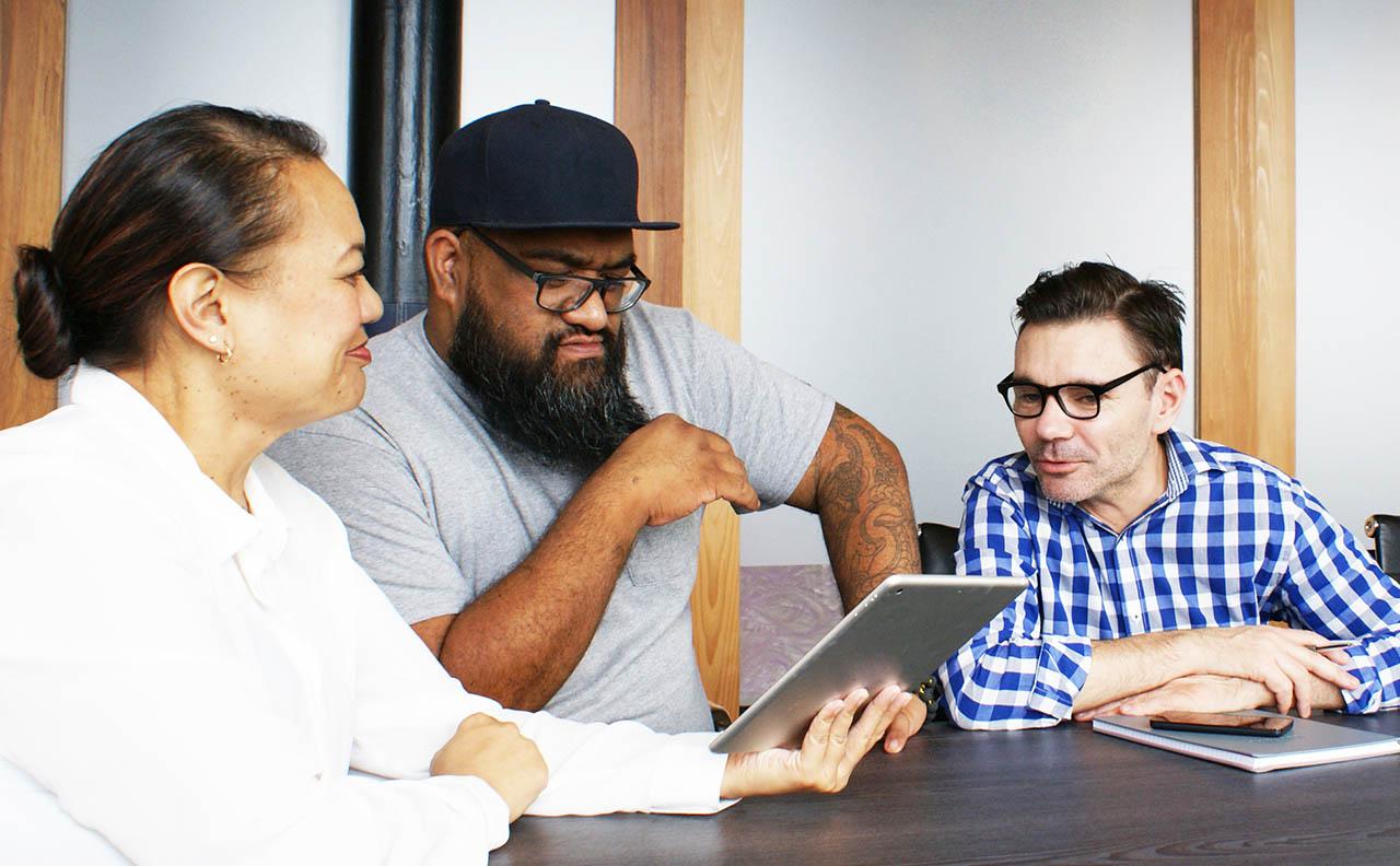 business digital marketing strategy meeting
